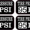 Tire Pressure 95 PSI Vinyl Stickers