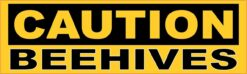 Caution Beehives Vinyl Sticker