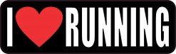 I Love Running Vinyl Sticker