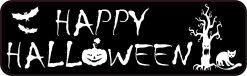 Spooky Happy Halloween Vinyl Sticker