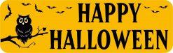 Owl Happy Halloween Vinyl Sticker