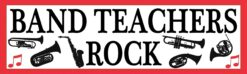 Red Band Teachers Rock Vinyl Sticker