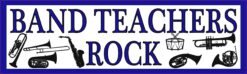 Blue Band Teachers Rock Vinyl Sticker