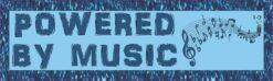 Powered by Music Vinyl Sticker