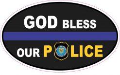 God Bless Our Police Vinyl Sticker