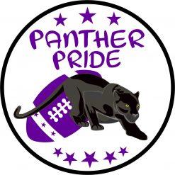 Purple Football Panther Pride Vinyl Sticker