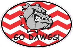 Red Go Dawgs Bulldog Vinyl Sticker