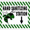 Green Hornet Hand Sanitizing Station Vinyl Sticker