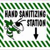 Hornet Hand Sanitizing Station Vinyl Sticker