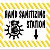 Pirate Hand Sanitizing Station Vinyl Sticker