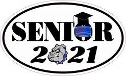 Blue Bulldog Quarantined Senior 2021 Vinyl Sticker
