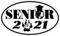 Bulldog Quarantined Senior 2021 Vinyl Sticker