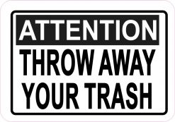 Throw Away Your Trash Magnet