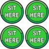 Sit Here Vinyl Stickers