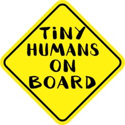 Tiny Humans on Board Vinyl Sticker