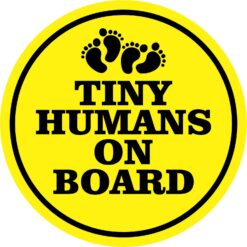 Tiny Humans on Board Vinyl Sticker