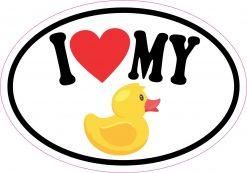 Oval I Love My Rubber Duck Vinyl Sticker