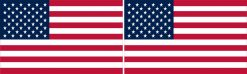 Proportional US Flag Vinyl Stickers