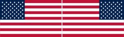 Mirrored Proportional US Flag Vinyl Stickers