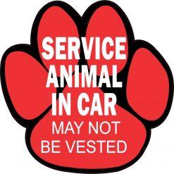Service Animal in Car Vinyl Sticker