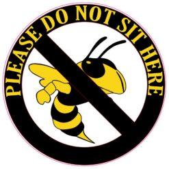 Hornet Do Not Sit Here Vinyl Sticker