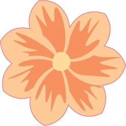 Orange Flower Vinyl Sticker