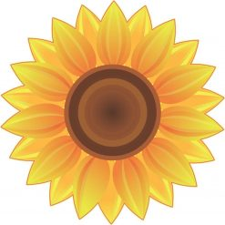 Golden Sunflower Vinyl Sticker