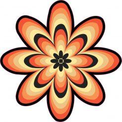 Orange Flower Vinyl Sticker