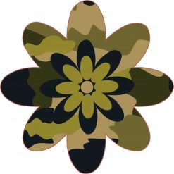 Camo Flower Vinyl Sticker