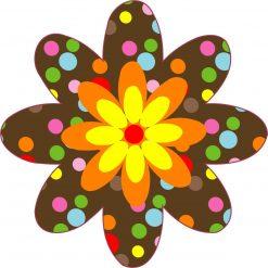 Polka Dot Flower Vinyl Sticker