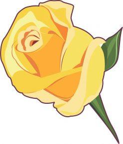 Yellow Rose Vinyl Sticker