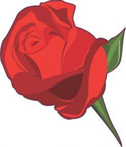 Red Rose Vinyl Sticker