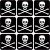 Skull and Crossbones Jolly Roger Flag Vinyl Stickers
