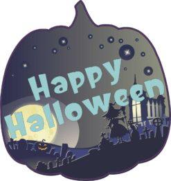 Pumpkin Happy Halloween Vinyl Sticker