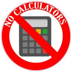 No Calculators Vinyl Sticker