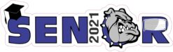 Blue Bulldog Senior 2021 Vinyl Sticker