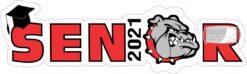 Red Bulldog Senior 2021 Vinyl Sticker