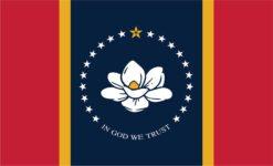 Mississippi in God We Trust Flag Magnet