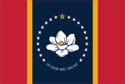 Mississippi in God We Trust Flag Vinyl Sticker