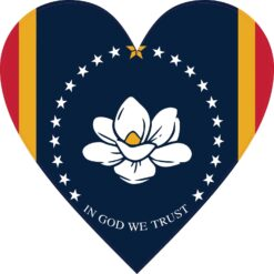 Heart Mississippi in God We Trust Flag Vinyl Sticker