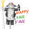 Scarecrow Happy Fall Yall Vinyl Sticker