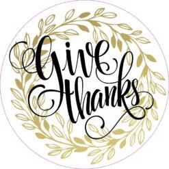 Give Thanks Vinyl Sticker
