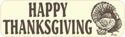 Turkey Happy Thanksgiving Vinyl Sticker