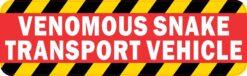 Venomous Snake Transport Vehicle Vinyl Sticker