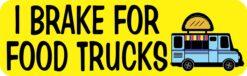I Brake for Food Truck Vinyl Sticker