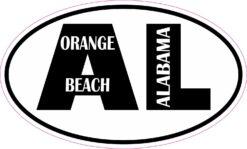 Oval AL Orange Beach Vinyl Sticker