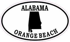 Oval Orange Beach Alabama Vinyl Sticker