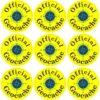 Yellow Official Geocache Vinyl Stickers