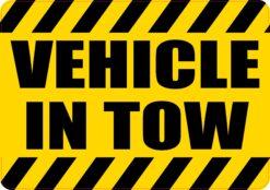 Vehicle in Tow Vinyl Sticker