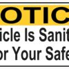 Vehicle Is Sanitized for Your Safety Magnet